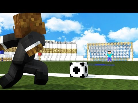FOOTBALL IN MINECRAFT MOD - 2vs2 Soccer Match | Minecraft - Mod Battle