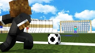 FOOTBALL IN MINECRAFT MOD - 2vs2 Soccer Match
