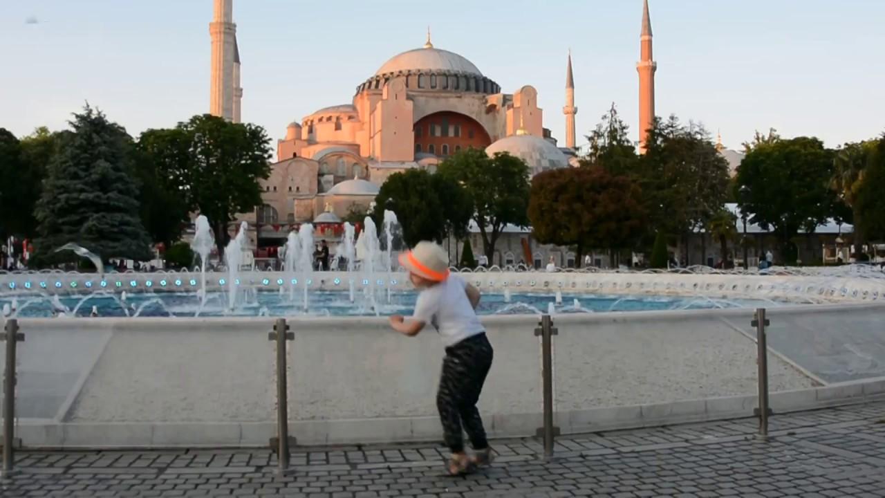 Istambuł 2018 perfomance na Placu Sułtna Ahmeda przed Hagia Sofia - (Turcja samochodem ok 8000 km )