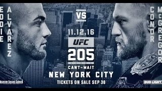 Дуэль взглядов (стердаун) Эдди Альвареса и Конора МакГрегора со взвешивания UFC 205