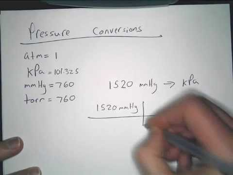 Pressure conversions and calculations