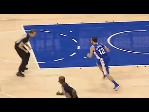 Referee Guards NBA Player! New York Knicks vs Philadelphia Sixers