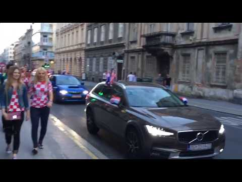 Croatian Fans Celebrate World Cup 2018 Silver