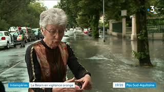 Intempéries : quand l'eau envahit les rues de Pau
