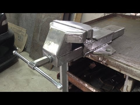 видео: ЛУЧШИЕ ТИСКИ В ГАРАЖ своими руками,  metal vise homemade