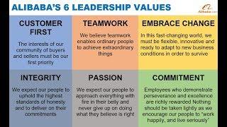Alibaba's 6 Core Leadership Values Via Jack Ma