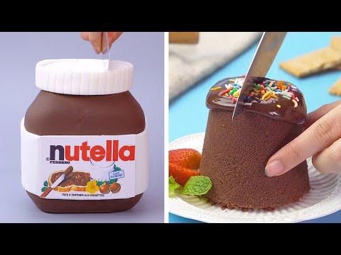 NUTELLA Chocolate Cakes Are Very Creative And Tasty | So Yummy Chocolate Cake Hacks | Tasty Plus