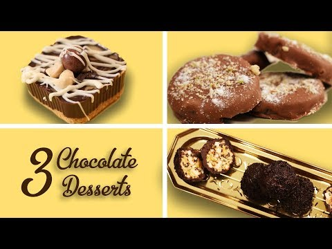 Download Youtube: 3 Chocolate Desserts Recipes In Hindi Easy Chocolate Desserts No Bake At Home
