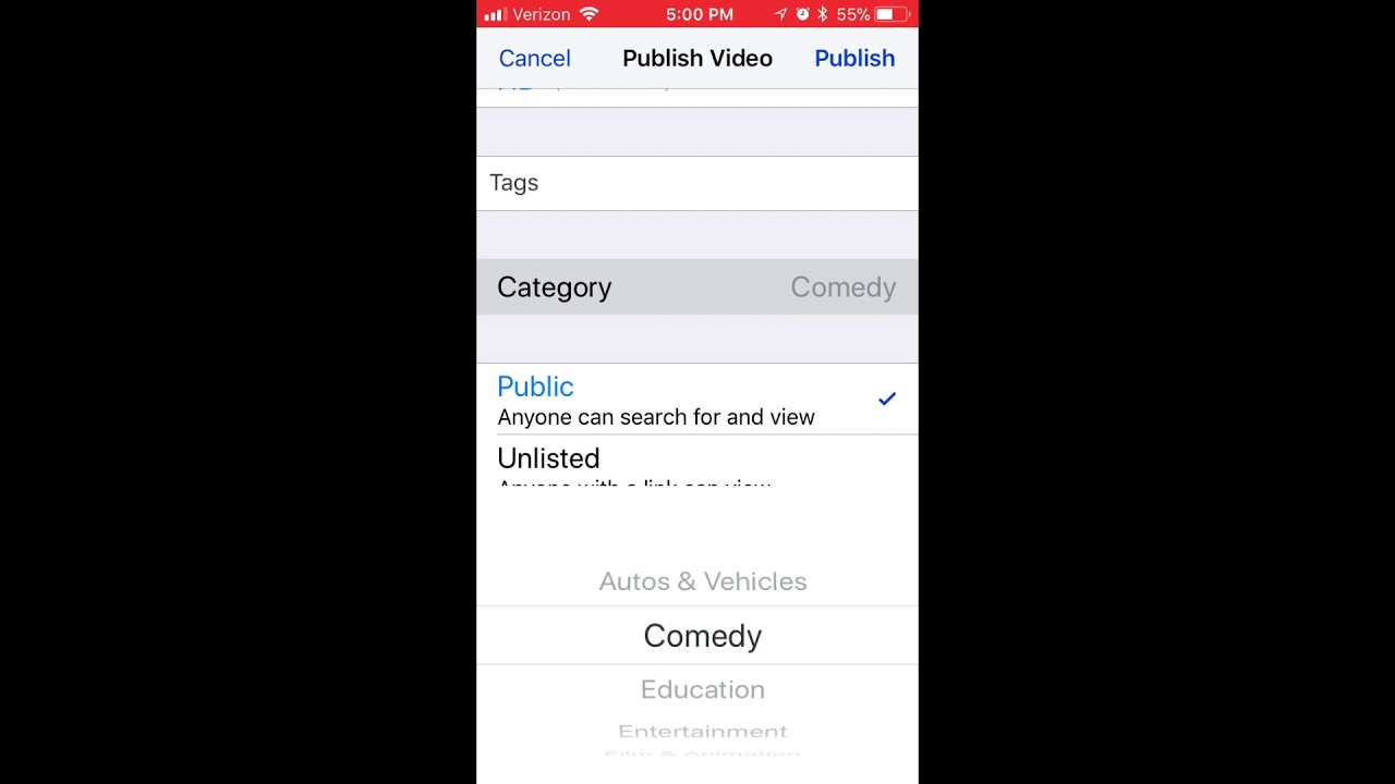How to Upload a Video from iPhone to YouTube - YouTube