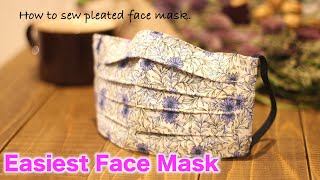 Quick and Easy Pleated Face Mask Tutorial - DIY Fabric Mask