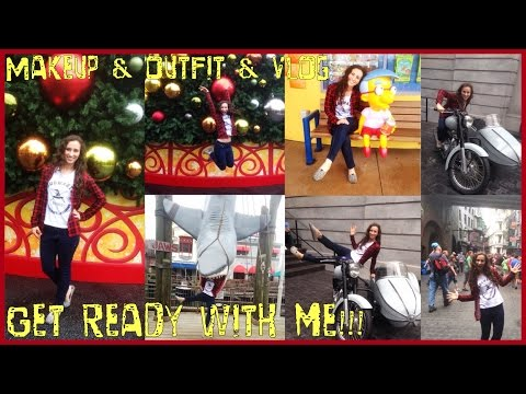 ★ Get ready with me Theme Park Makeup & Outfit & Vlog ★