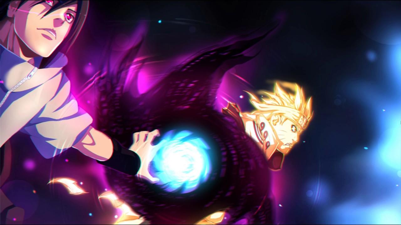 Naruto and Sasuke- Rasengan and Amaterasu(ナルト 疾風伝) live wallpaper- wallpaper engine - YouTube