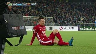 Hopcutt skadar sig olyckligt mot Hammarby - TV4 Sport