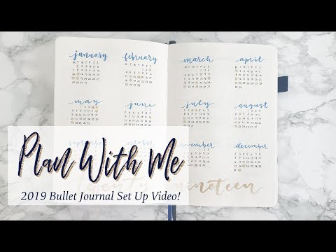 2019 Bullet Journal Set Up | Part 1 - Annual Spreads