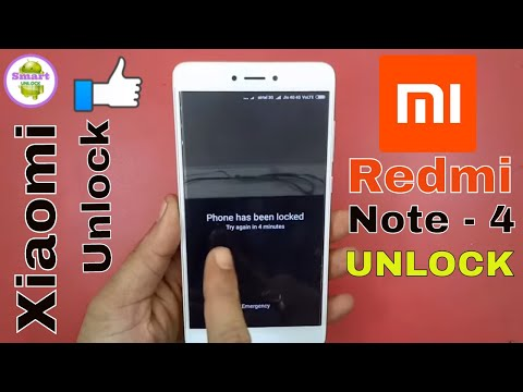 Remove Mi Account Redmi Note 4 Pattern Unlock
