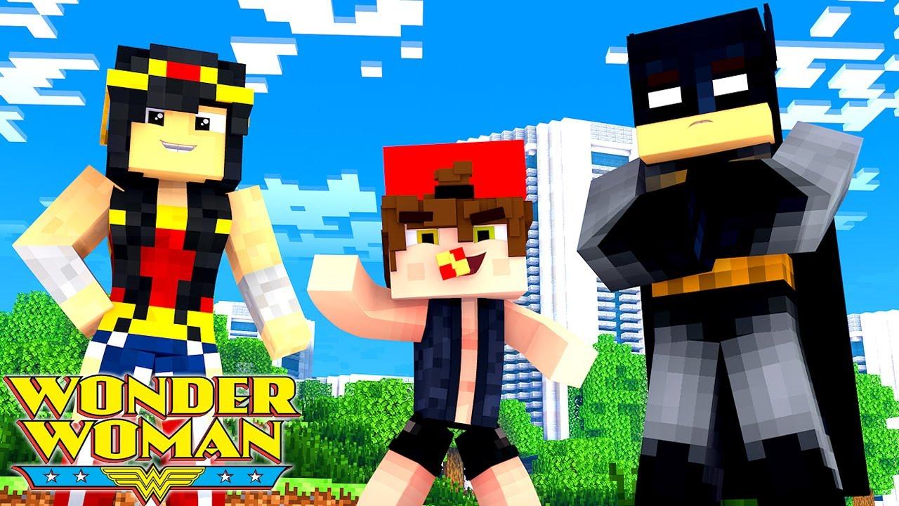 Minecraft - Who's Your Family? O FILHO DA MULHER MARAVILHA E DO BATMAN ! LIGA DA JUSTIÇA