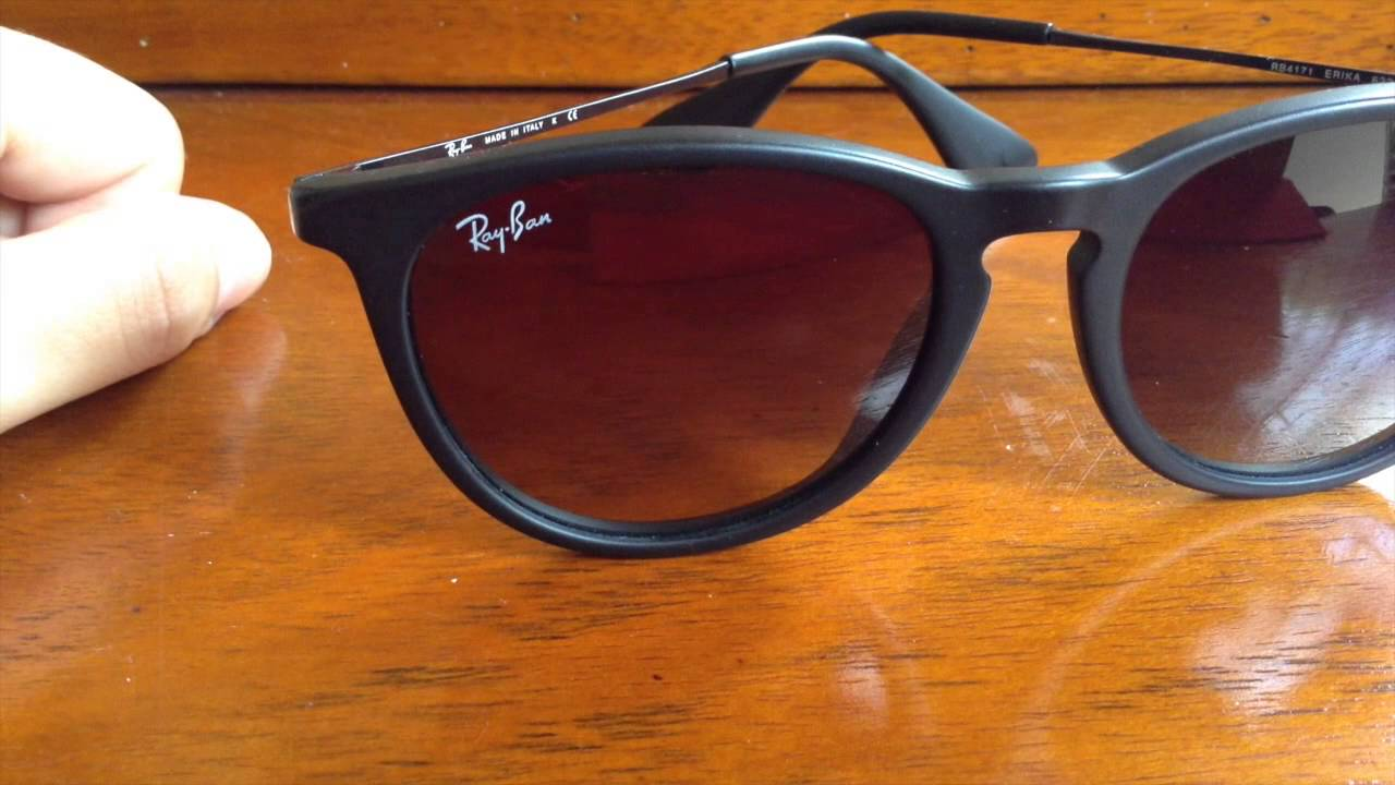 e58901969a Ray Ban Erika Made in Italy (Original) - YouTube