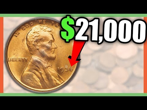 WHAT IS A 1936 PENNY WORTH? RARE PENNIES WORTH MONEY!!