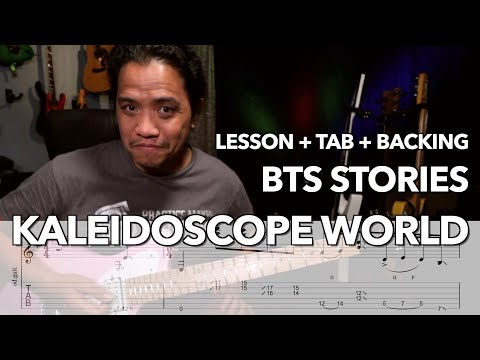 Kaleidoscope World Lesson And BTS Stories | With Onscreen TAB + Backing Track