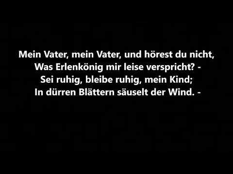 Erlkönig - Johann Wolfgang von Goethe - Lesung mit Text - Ballade - Gedicht - Hörbuch deutsch