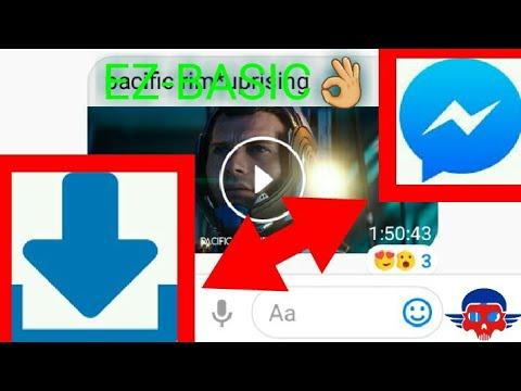 download video from facebook messenger 2018
