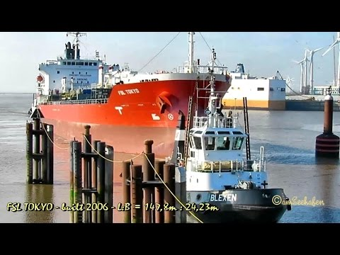 chem tanker FSL TOKYO 9VBR4 IMO 9349643 Emden seaship merchant vessel Chemietanker Seeschiff tugs