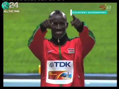 Kemboi Breaks Into Trademark Dance After Clinching Gold