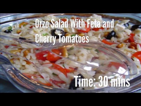 Orzo Salad With Feta And Cherry Tomatoes Recipe