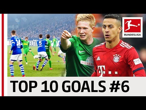 Top 10 Goals - Players with Jersey Number 6 - De Bruyne, Thiago & Co.