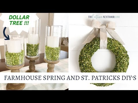 Farmhouse Spring & St  Patrick's DIY's
