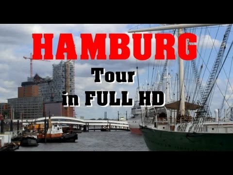 Hamburg Germany - Virtual Sight Seeing City Tour in FULL HD with Queen Mary 2