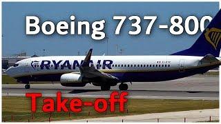 Ryanair Boeing 737-800 take-off 🛫🛫