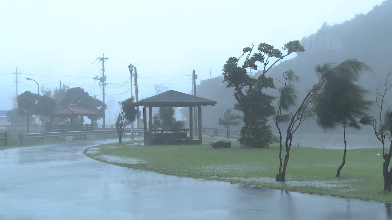 Typhoon Bolaven / 台風第15号 (ボラヴェン) Lashes Okinawa Breaking News Footage