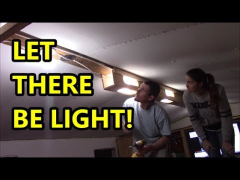 Mobile Home Makeover: (ep. 2) Installing Custom Light Fixtures