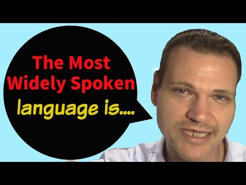 The Most Widely Spoken Languages in the World