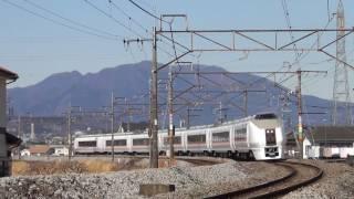 JR651系OM204編成 3002M 特急草津2号 上野行き JR上越線 渋川~八木原 区間