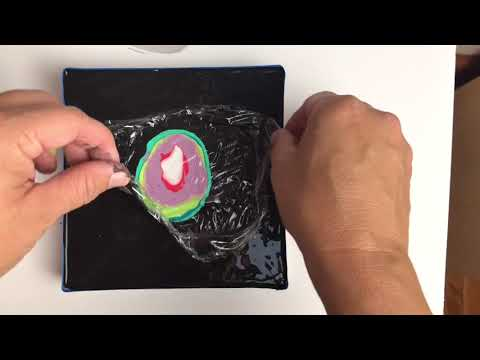 Simple acrylic dip painting Technique