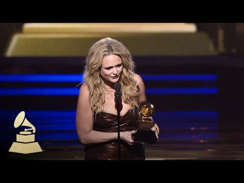 Miranda Lambert accepting the GRAMMY for Best Female Country Vocal at the 53rd GRAMMY Awards