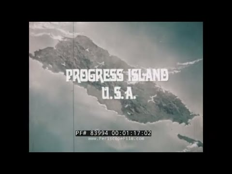"1970s PUERTO RICO USA PROMOTIONAL FILM  ""PROGRESS ISLAND USA""  SAN JUAN 83994"