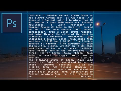 Adobe Photoshop CC Tutorial: How To Automatically Align Text Into A Square Using Justify All