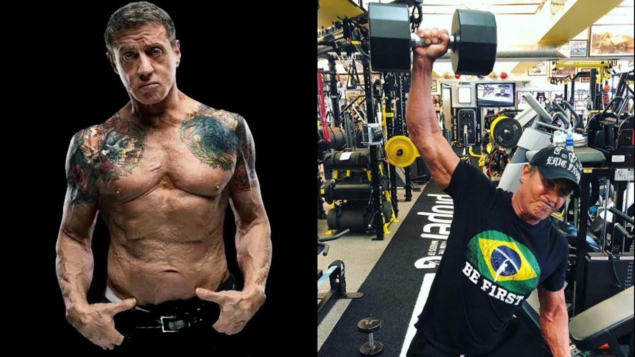Stallone still ripped and lifting heavy at age 71 - YouTube