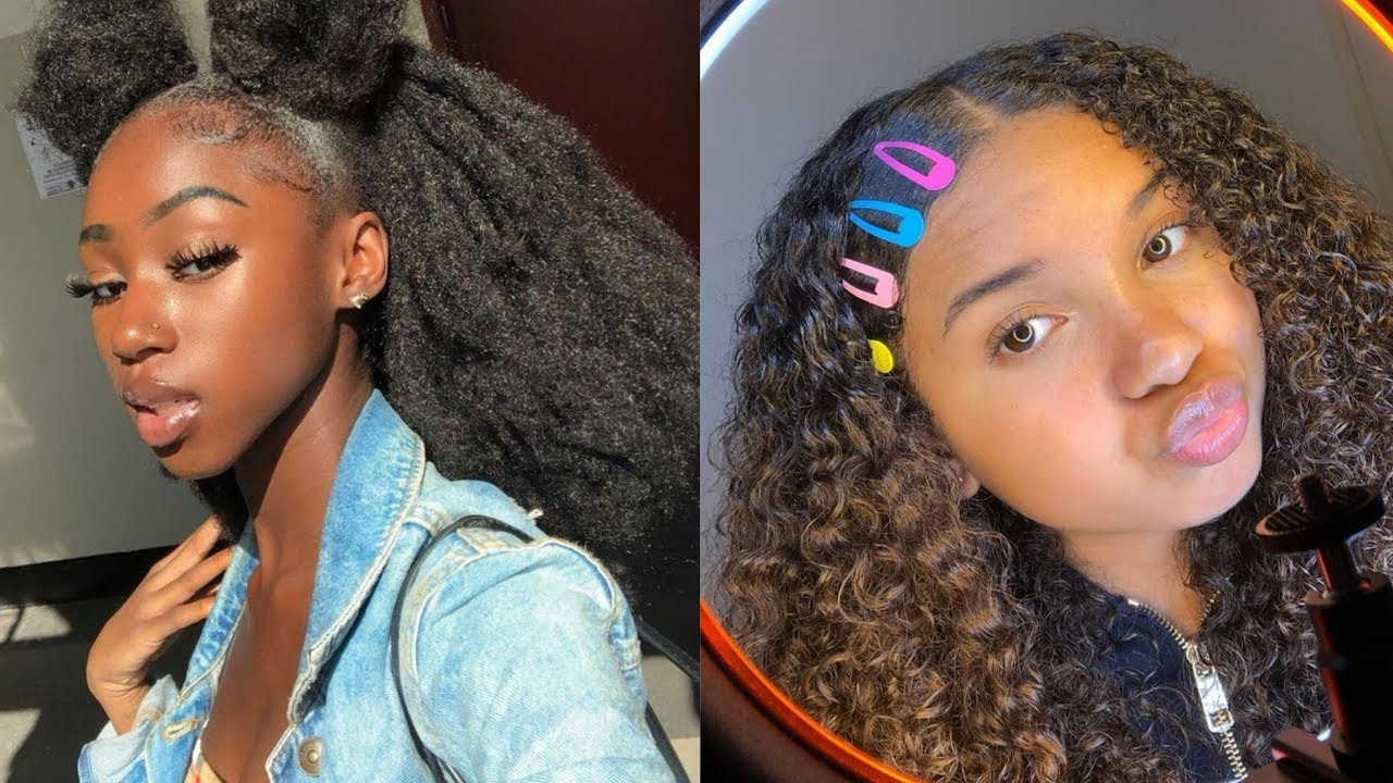 Trendy And Cute Curly Natural Hairstyles Compilation Youtube
