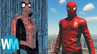 TOP 10 costumes de SPIDER-MAN sur PS4 et leurs ORIGINES !