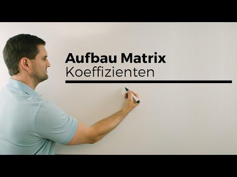 Aufbau Matrix/Matrizen, Koeffizienten, Zeile, Spalte, Addieren   Mathe by Daniel Jung from YouTube · Duration:  2 minutes 43 seconds