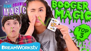 The 3 Best BOOGER Magic Tricks | JUNK DRAWER MAGIC