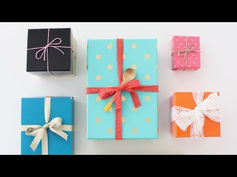 How to tie a bow on a gift---PERFECT every time!
