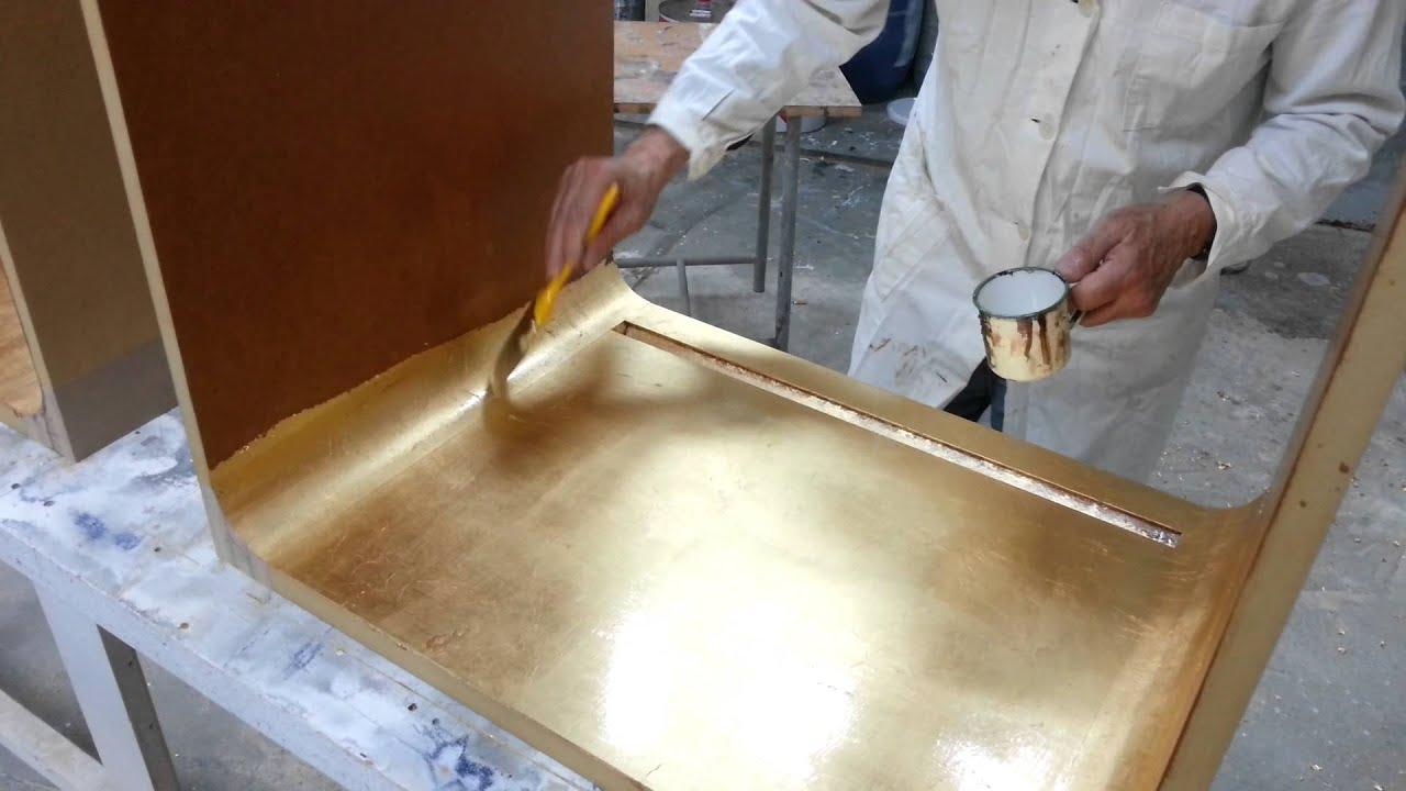 Finitura con vernice ignifuga su superficie dorata youtube - Vernice per mobili ...
