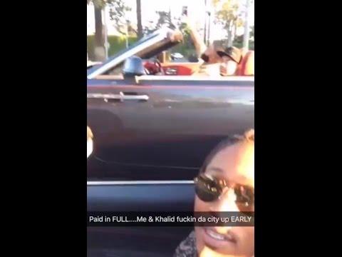 Future & DJ Khaled racing Ferrari & Rolls Royce downtown Miami 💨💨