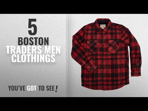 Top 10 Boston Traders Men Clothings [ Winter 2018 ]: Boston Traders Men's Plush-Lined Flannel Shirt