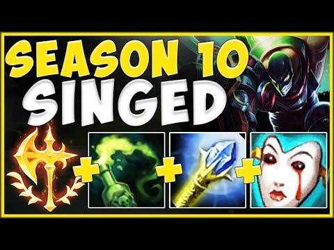 NO SKILL REQUIRED?? SEASON 10 CONQUEROR PERMASLOW SINGED IS 100% UNFAIR! League Of Legends Gameplay